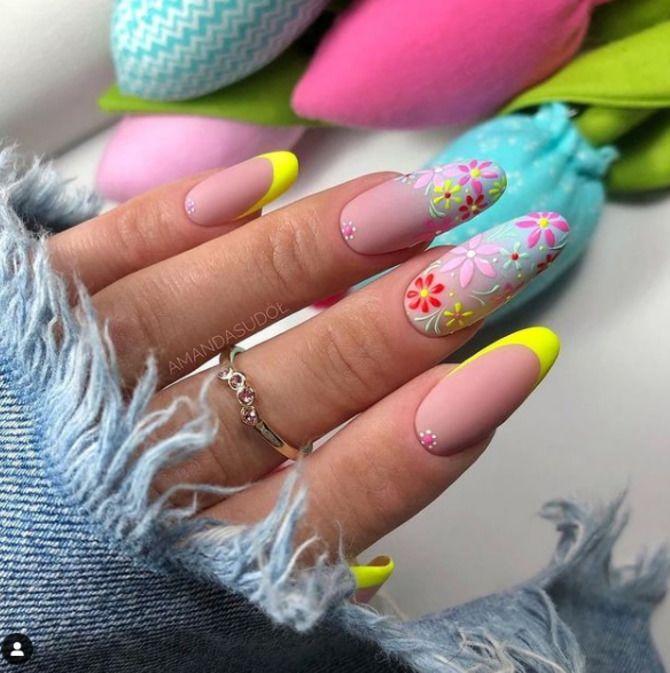 Ногти цвета лета: нейл-арт 2021 в ярких и неоновых цветах 18