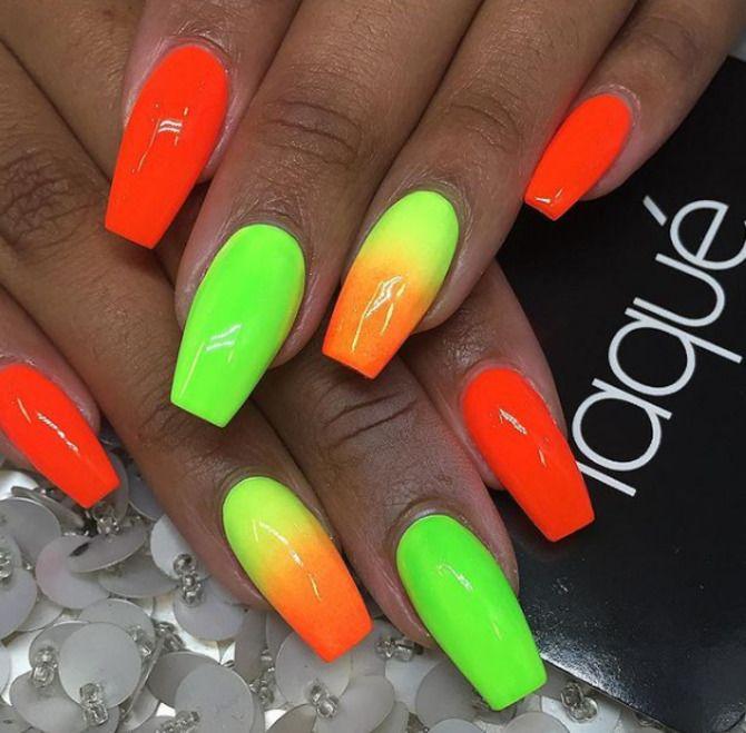 Ногти цвета лета: нейл-арт 2021 в ярких и неоновых цветах 21