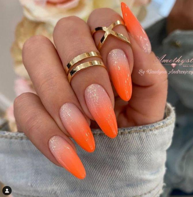 Ногти цвета лета: нейл-арт 2021 в ярких и неоновых цветах 26