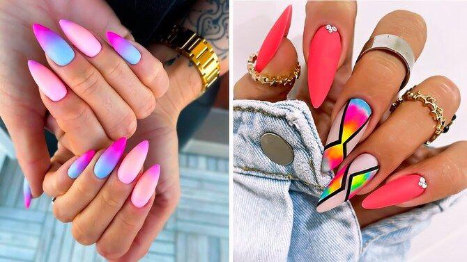 Ногти цвета лета: нейл-арт 2021 в ярких и неоновых цветах 27