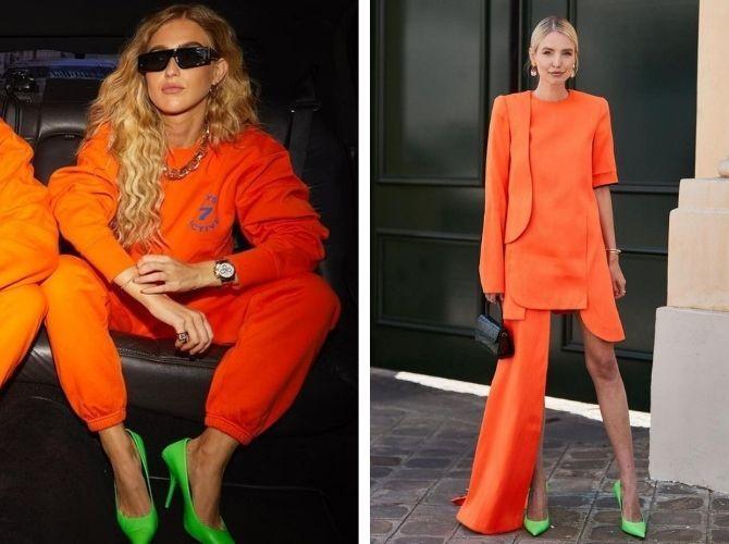 С чем носить зеленые неоновые туфли: яркие луки 13