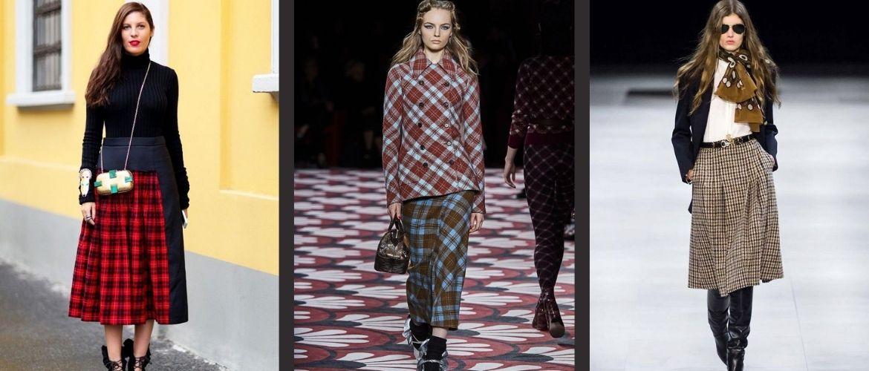 С чем носить модную юбку в клетку: актуальные идеи для модниц