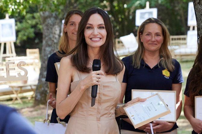 Анджелина Джоли в костюме пчеловода: актриса поздравила выпускников школы апиологии 1