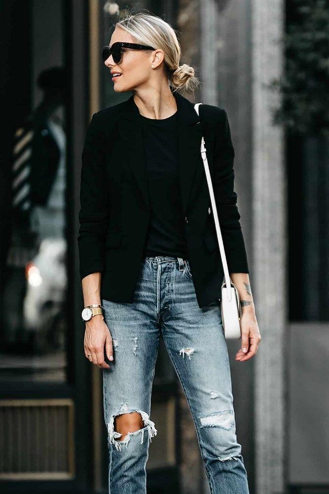 Як носити чорний піджак, щоб виглядати модно: ненудні ідеї 2