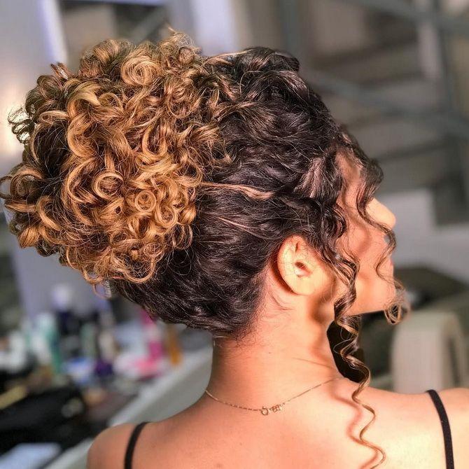 Летние прически для вьющихся волос 3