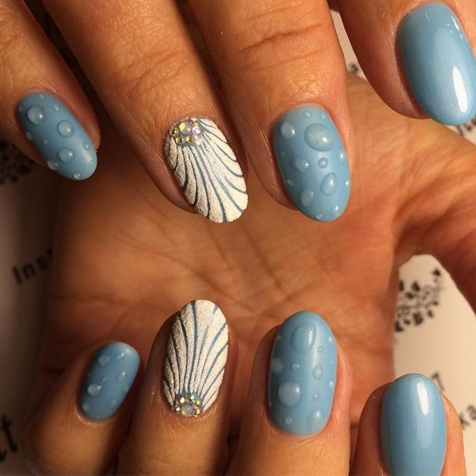 Манікюр з краплями на нігтях: стильні ідеї для модниць 2