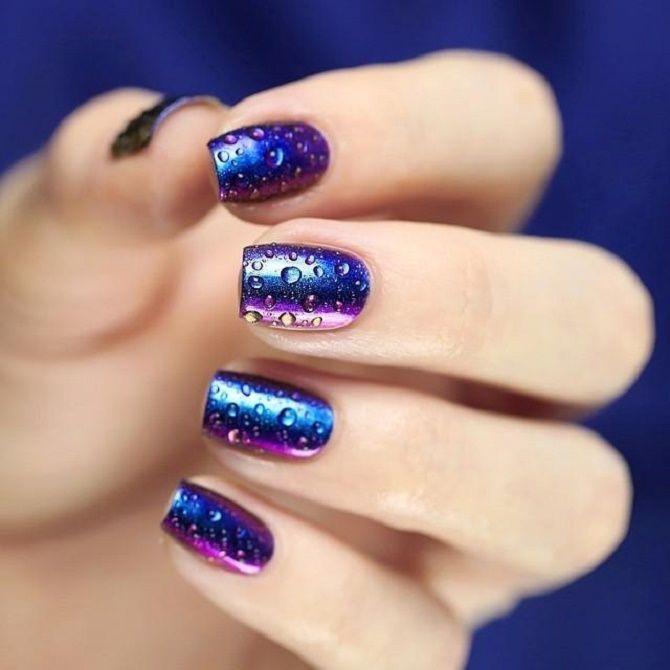 Манікюр з краплями на нігтях: стильні ідеї для модниць 14