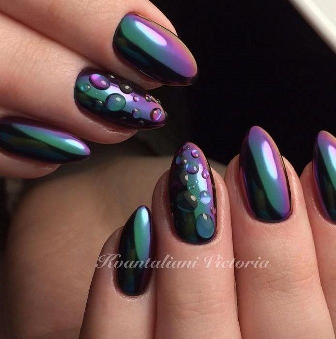 Манікюр з краплями на нігтях: стильні ідеї для модниць 15