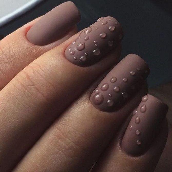 Манікюр з краплями на нігтях: стильні ідеї для модниць 19