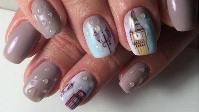 Манікюр з краплями на нігтях: стильні ідеї для модниць 20