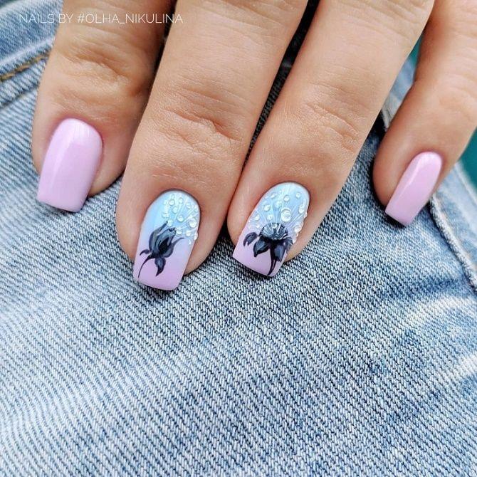 Манікюр з краплями на нігтях: стильні ідеї для модниць 24