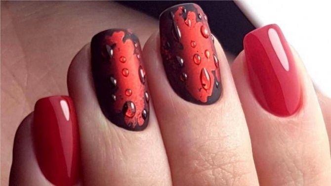 Манікюр з краплями на нігтях: стильні ідеї для модниць 5