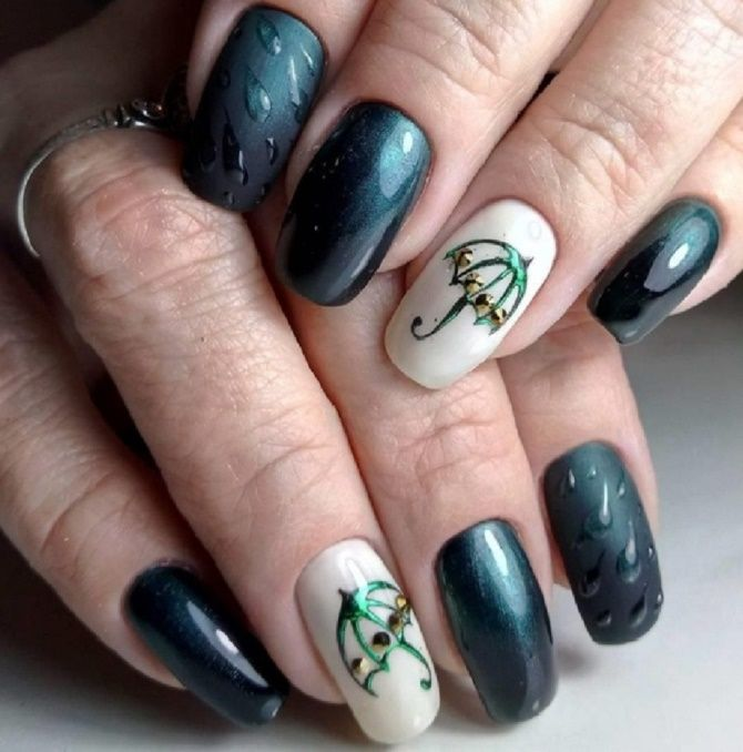 Манікюр з краплями на нігтях: стильні ідеї для модниць 8