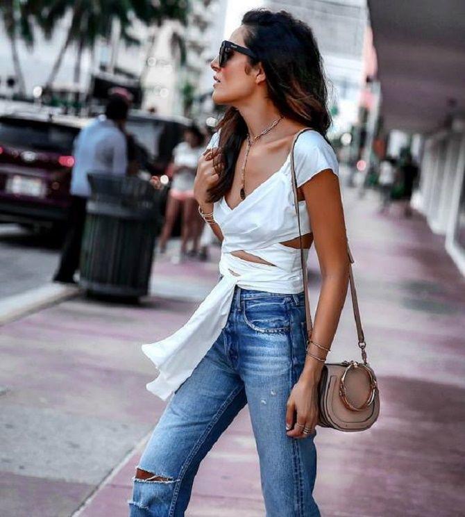 Топы на завязках: как носить и с чем сочетать модный тренд 13