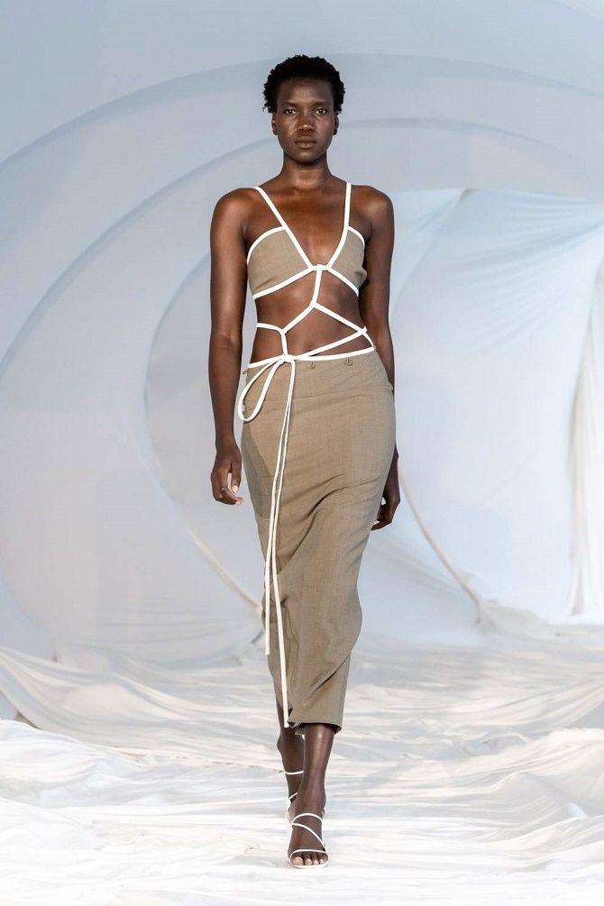 Топы на завязках: как носить и с чем сочетать модный тренд 9