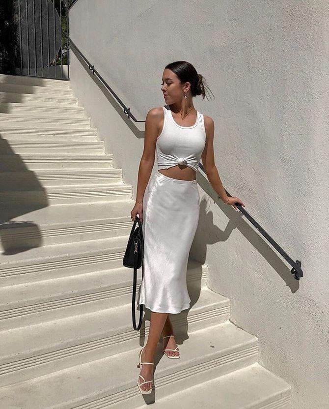 Белая юбка на лето 2021 — какие образы с ней можно создать 3