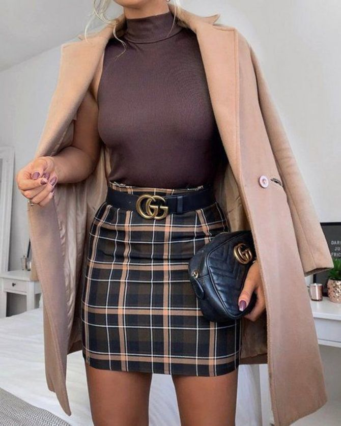 С чем носить модную юбку в клетку: актуальные идеи для модниц 11