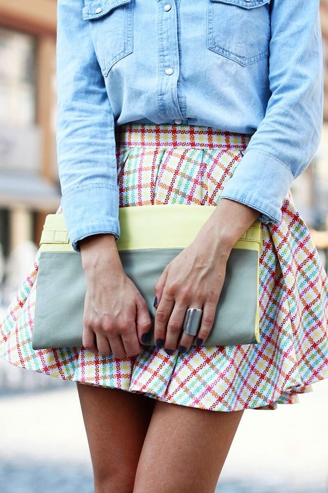 С чем носить модную юбку в клетку: актуальные идеи для модниц 12