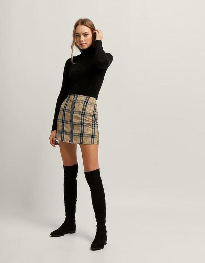 С чем носить модную юбку в клетку: актуальные идеи для модниц 3