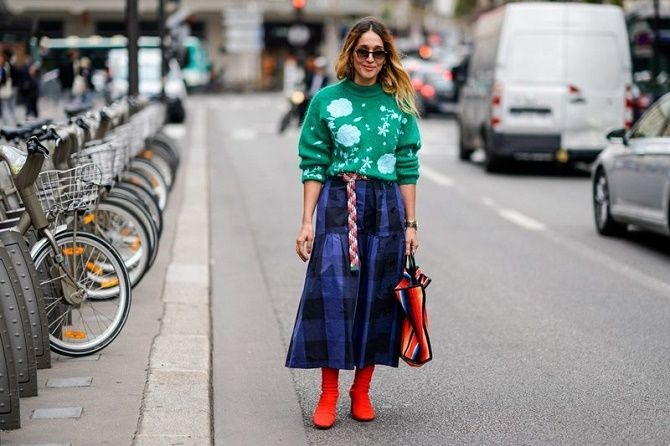 С чем носить модную юбку в клетку: актуальные идеи для модниц 19