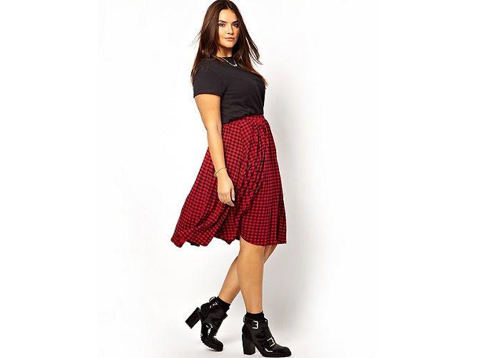 С чем носить модную юбку в клетку: актуальные идеи для модниц 8