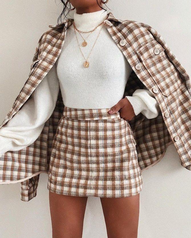 С чем носить модную юбку в клетку: актуальные идеи для модниц 10
