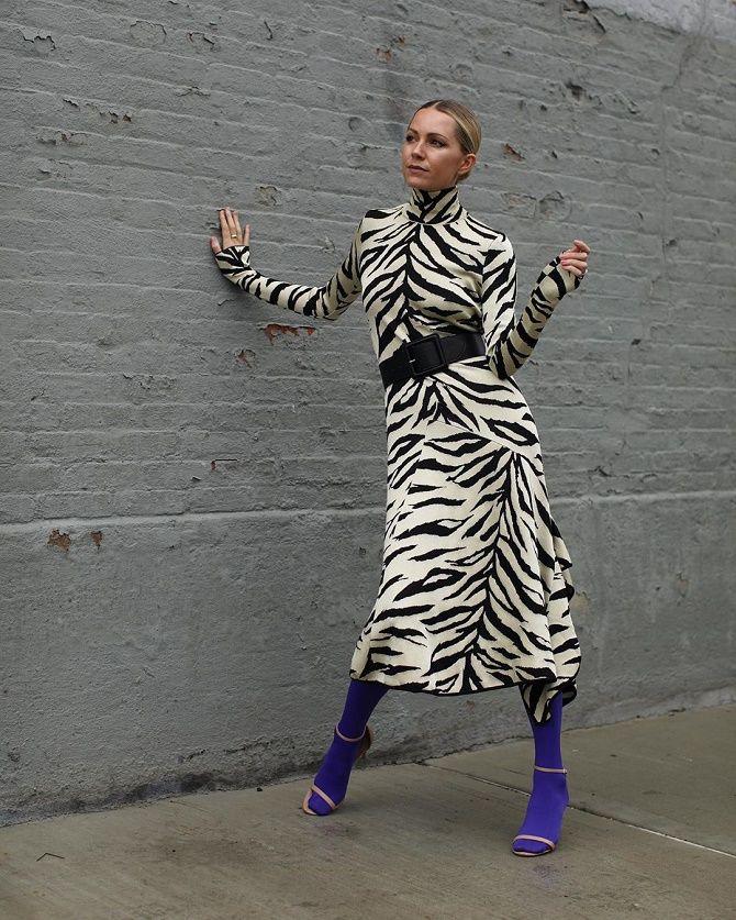 Зебра – как носить любимый принт многих модниц? 5