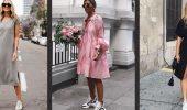 Модели платьев, которые можно носить с кроссовками