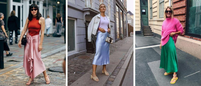Як носити атласну спідницю – 3 шикарних способу
