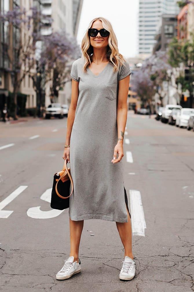 Модели платьев, которые можно носить с кроссовками 2
