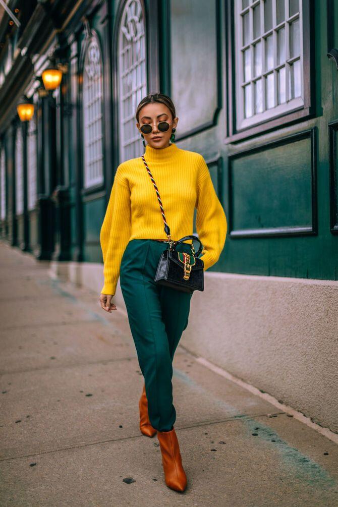 З чим носити яскраві штани ранньої осені 2021: модні поєднання 18