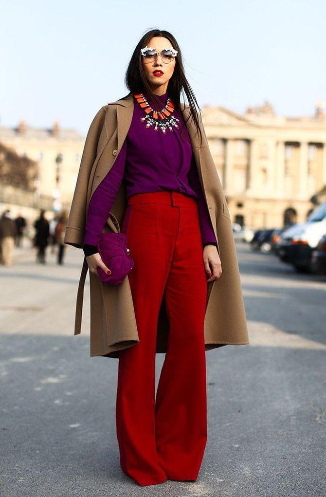 З чим носити яскраві штани ранньої осені 2021: модні поєднання 26