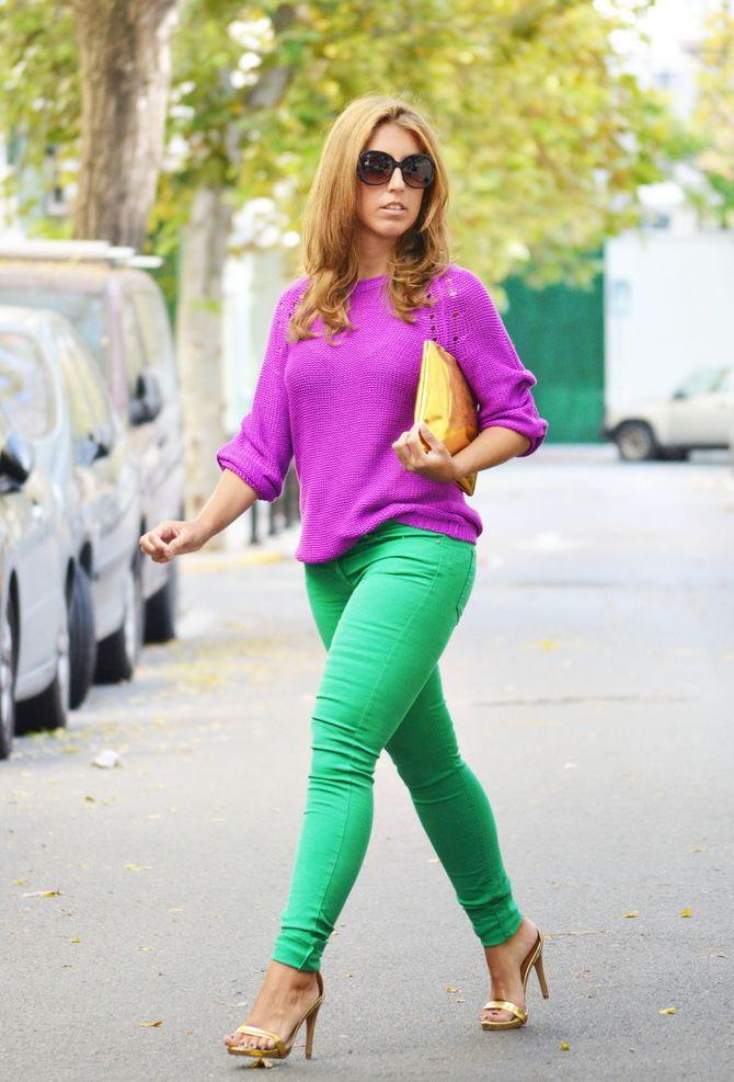 З чим носити яскраві штани ранньої осені 2021: модні поєднання 33