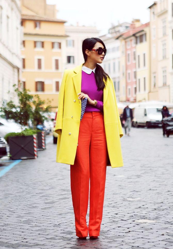З чим носити яскраві штани ранньої осені 2021: модні поєднання 37