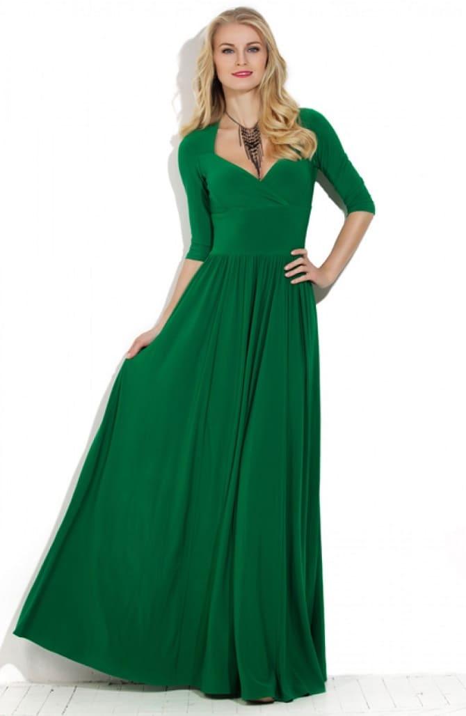 Как носить зеленые платья: модные и необычные образы 2