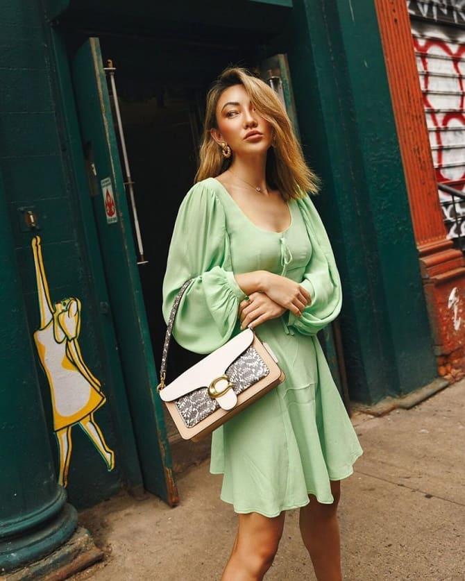 Как носить зеленые платья: модные и необычные образы 4