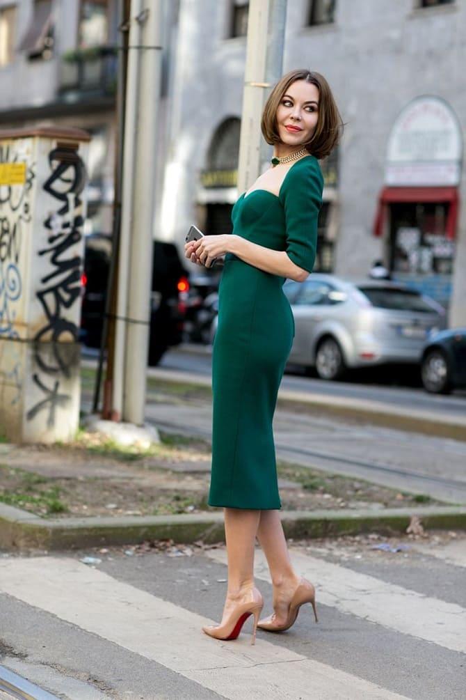 Как носить зеленые платья: модные и необычные образы 5