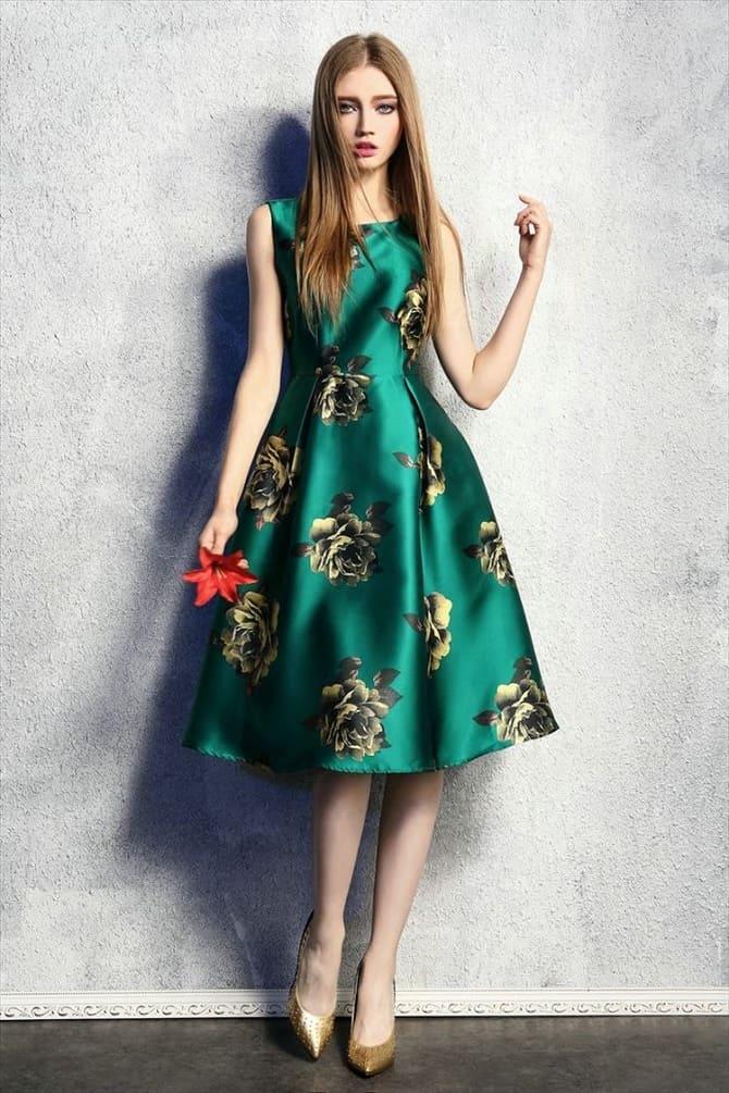 Как носить зеленые платья: модные и необычные образы 6