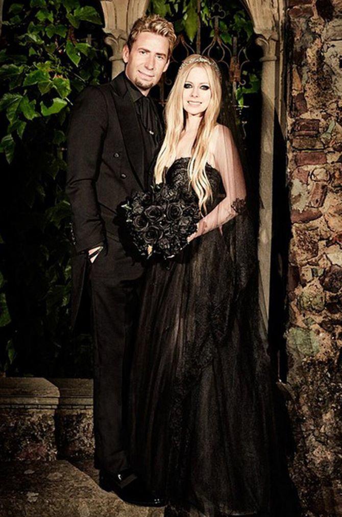 Знаменитые невесты, которые вышли замуж в черном свадебном платье 2