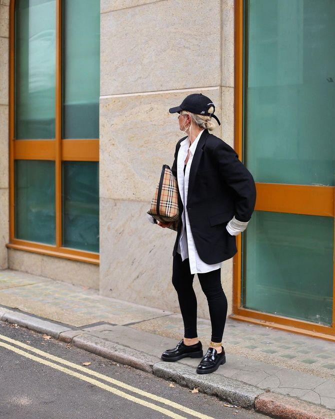 С чем носить черные лоферы — идеи для модных образов 15
