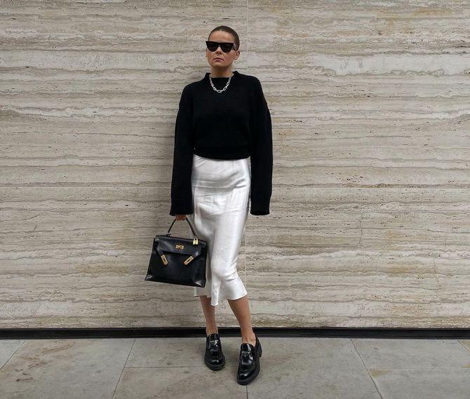 С чем носить черные лоферы — идеи для модных образов 23