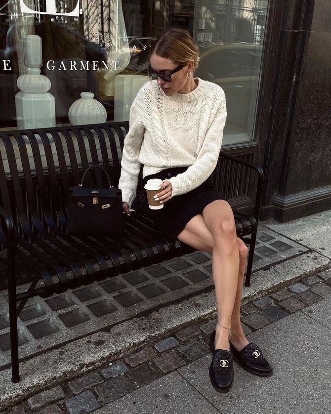 С чем носить черные лоферы — идеи для модных образов 4