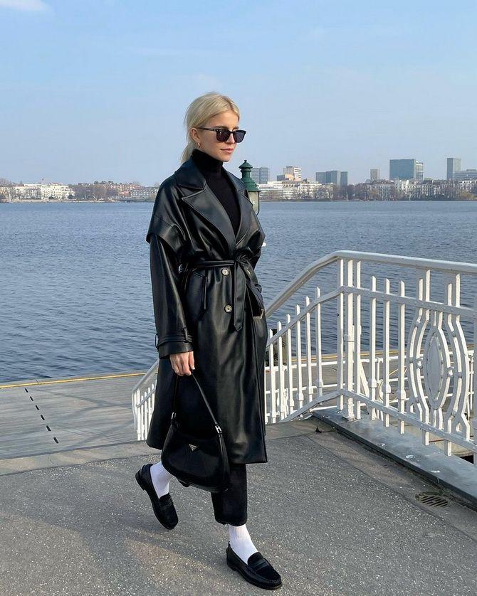 С чем носить черные лоферы — идеи для модных образов 27