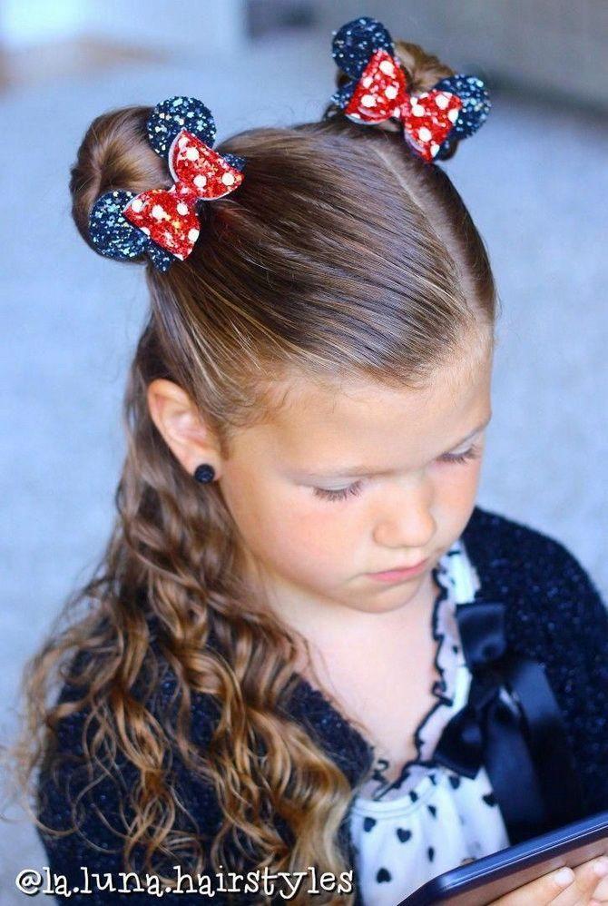 Модные и легкие прически на длинные волосы для девочек в школу: идеи на каждый день 5