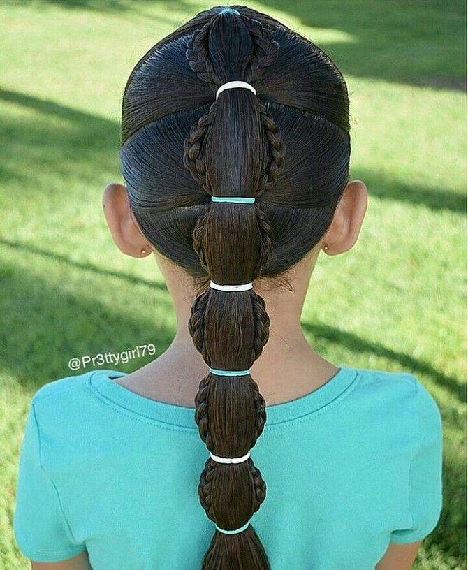 Модные и легкие прически на длинные волосы для девочек в школу: идеи на каждый день 6