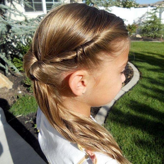 Модные и легкие прически на длинные волосы для девочек в школу: идеи на каждый день 3
