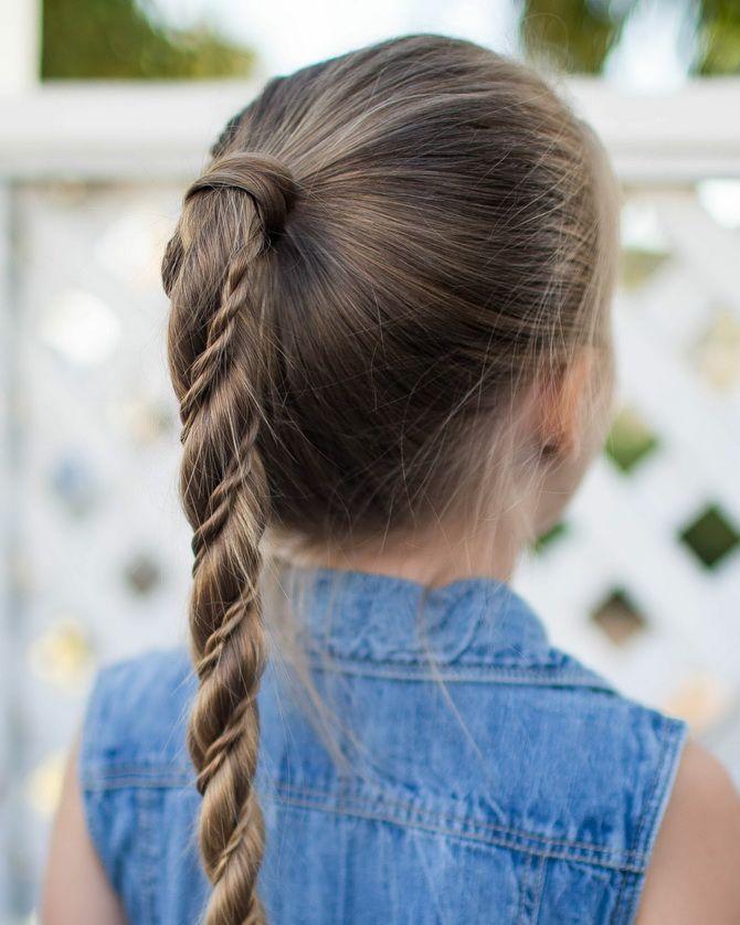 Модные и легкие прически на длинные волосы для девочек в школу: идеи на каждый день 7